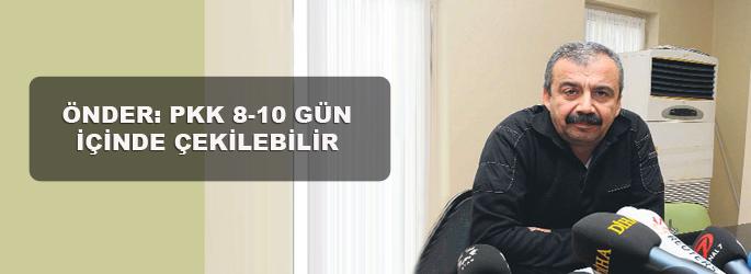 Sırrı Sürreya: PKK 10 gün içinde çekilir