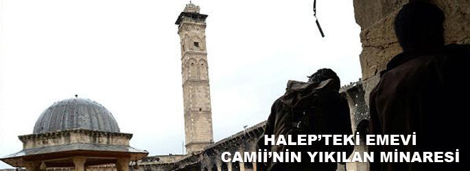 Emevi Camii'nin yıkılan minaresi-VİDEO