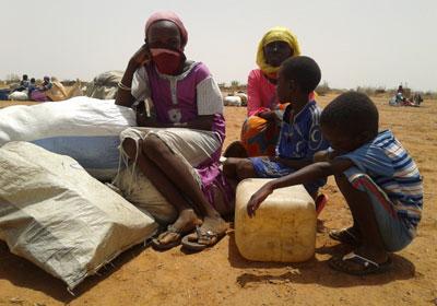 Darfur büyük bir insani kriz ile karşı karşıya