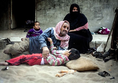 Elektriksiz Gazze'yi soğuk vurdu