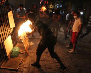 Taksim'de gece eylemler vardı