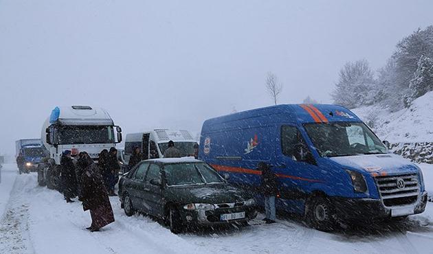 D-100 karayolu Ankara istikameti kapandı