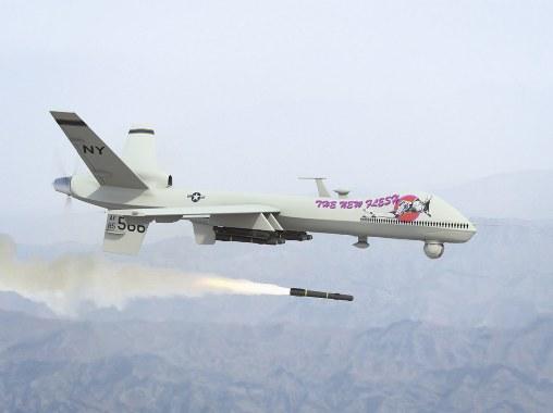 Amerikan İHA'ları Irak'ı bombalıyor
