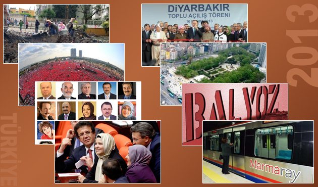 Türkiye'de 2013'e damgasını vuran olaylar