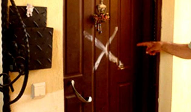 Kapıları işaretleyen şahıs tespit edildi