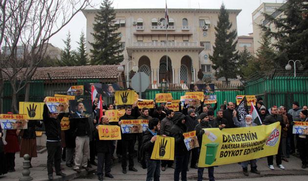 Ankara'da Mısır darbesine protesto gösterisi