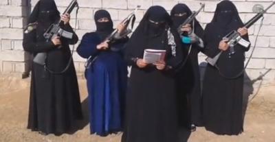 Felluce'de kadınlar silahlandı