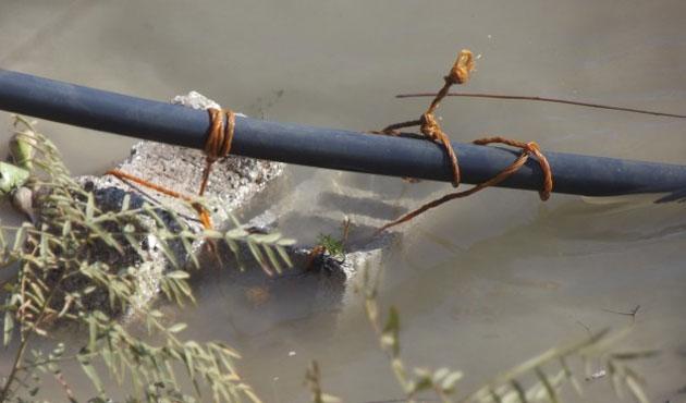 Sınırdaki 200 metrelik boru hattı imha edildi