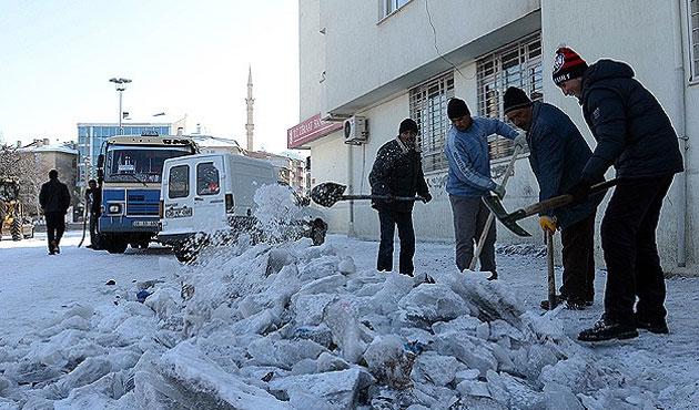 Doğu Anadolu'da kış: Kars eksi 32 derece