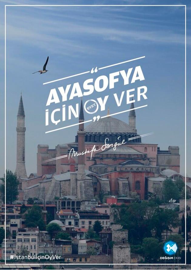 Mustafa Sarıgül'den CHP'siz reklam afişi