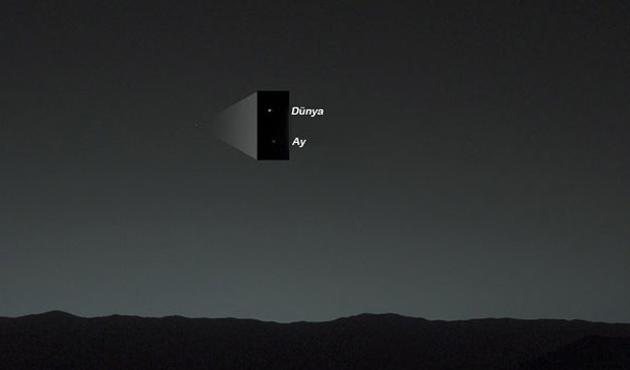 Mars'tan Dünya'nın görünüşü-FOTO