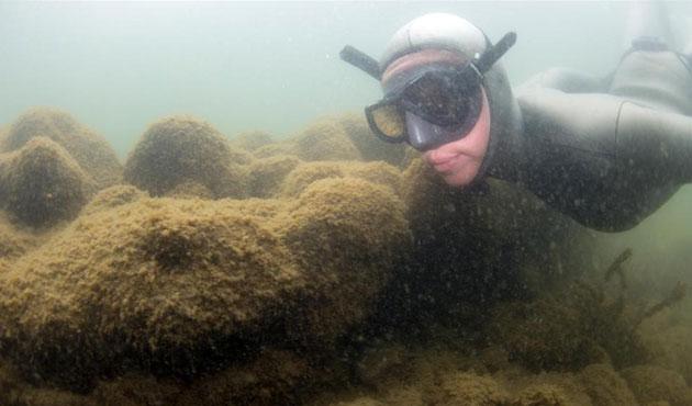 Göldeki Bazilika'ya ilk dalış yapıldı-FOTO