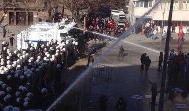 Ankara'da Ergenekon protestosuna müdahale