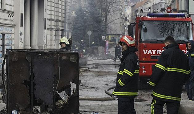 Saraybosna Kantonu hükümet binasında yangın