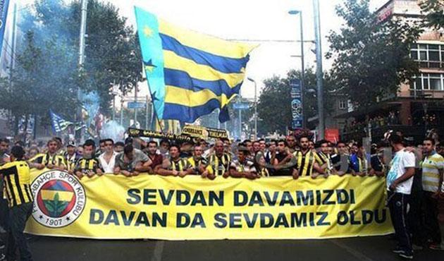 Fenerbahçeliler yürüyüş yapıyor