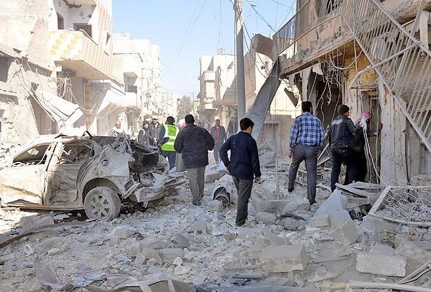 Esad 'varil bombasıyla' saldırdı: 61 ölü