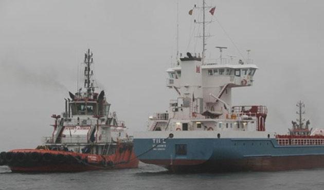 Marmara Denizi'nde iki gemi çarpıştı