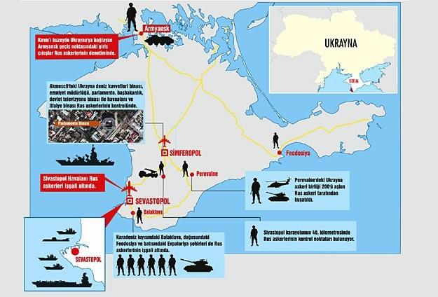 Rusya Kırım'ın kontrolünü ele geçirdi