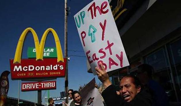 McDonald's'da düşük ücret isyanı
