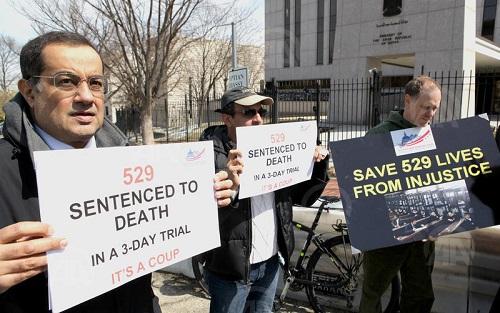 Mısır'daki idam kararları ABD'de protesto edildi