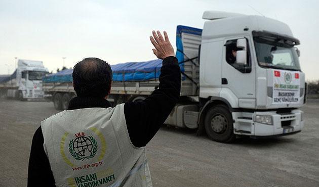 Mavi Marmara şehitleri adına 100 tonluk yardım