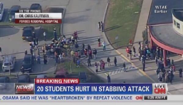 ABD'de bir okulda bıçaklı saldırı: 20 yaralı