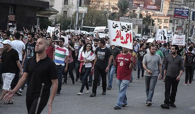 Mısır'de gösteri kanunu protestosu