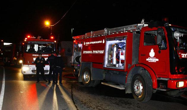 İBB doğalgaz dolum tesisinde yangın