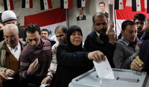 Suriye'de tartışmalı seçim başladı
