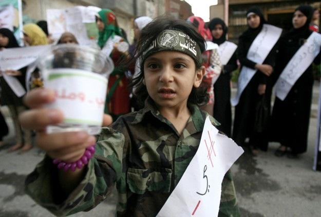 Refah'ta açlık grevi yapanlara destek gösterisi