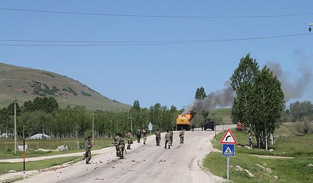 Kapatılan yol operasyon sonrası açıldı