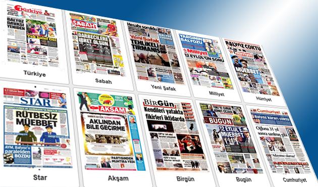 12 Eylül ve Balyoz kararları manşetlerde