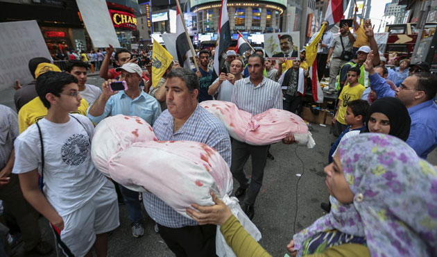 ABD'deki Mısırlılardan darbe protestosu
