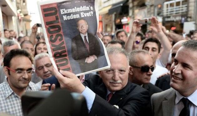 İhsanoğlu'ndan Filistin açıklamasından sonra Türksolu posteri