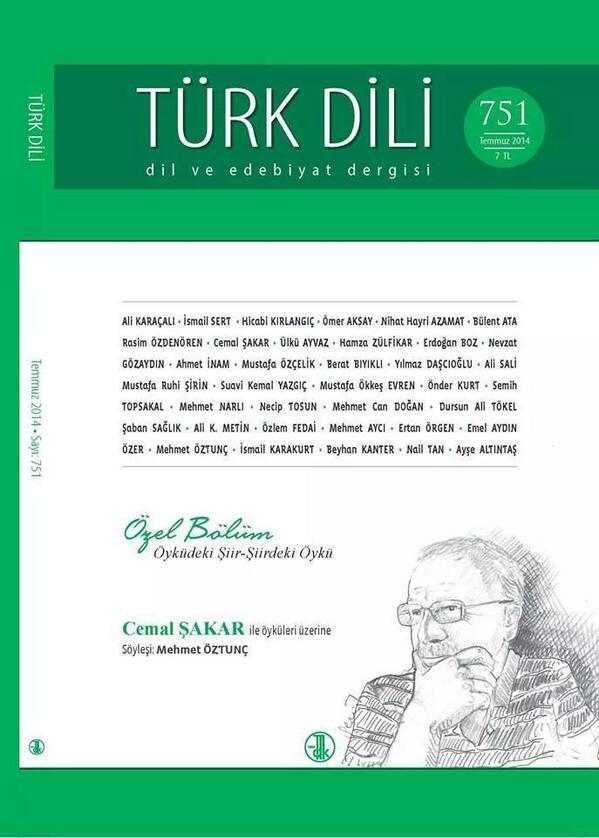 Cemal Şakar Türk Dili'nde