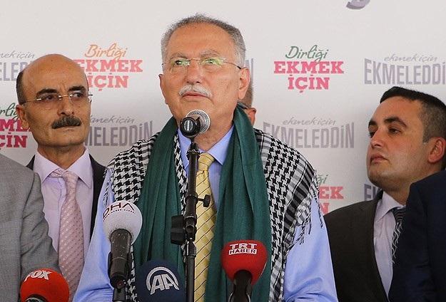 İhsanoğlu: Gazze'ye yapılan zulüm bitsin