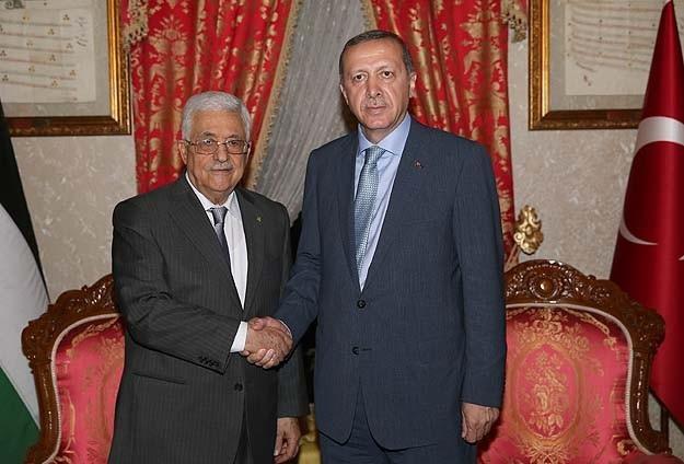 Erdoğan Abbas ile bir araya geldi