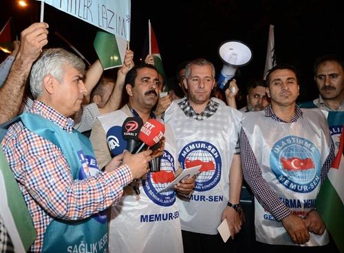 İsrail Başkonsolosluğu önünde protestolar sürüyor