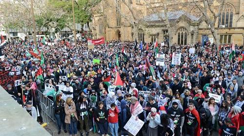 İsrail'in Gazze saldırıları Sydney'de protesto edildi