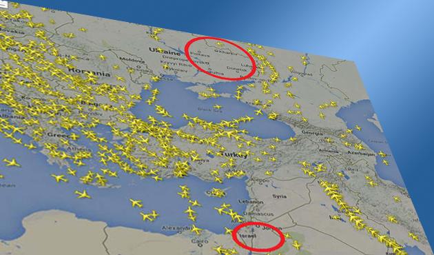 Ukrayna ve İsrail riskli, Türk hava sahası E-5'e döndü