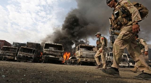 Afganistan'da 15 ton patlayıcı ele geçirildi