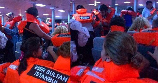Marmara'da fırtına feribotun camını patlattı/VİDEO