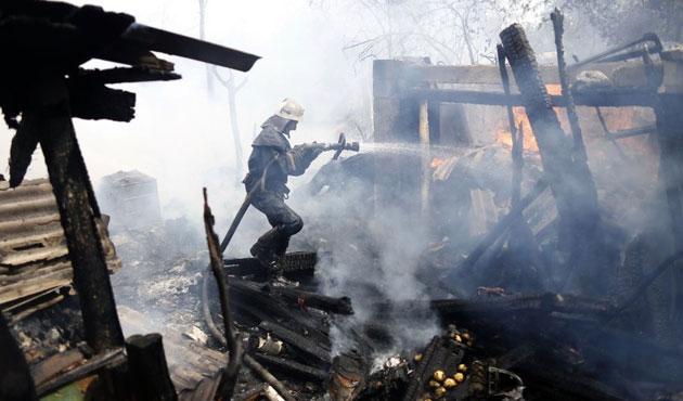 Donetsk'te müze binası kısmen yıkıldı