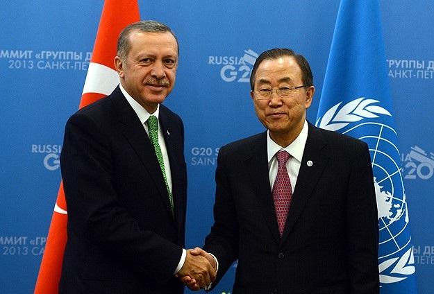 Erdoğan Ban Ki-mun ve Putin'le telefonda görüştü