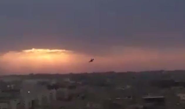 Libya'da savaş uçağı düştü / VİDEO