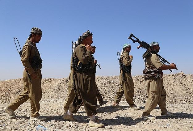 Irak ve Peşmerge güçleri, ABD desteğiyle ilerliyor