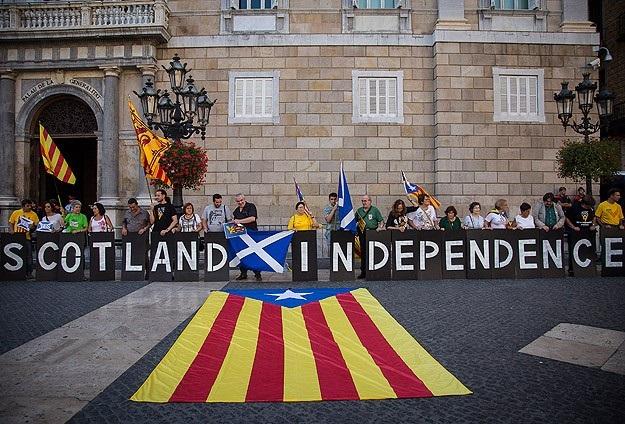 Katalonya'dan İskoçya'ya destek