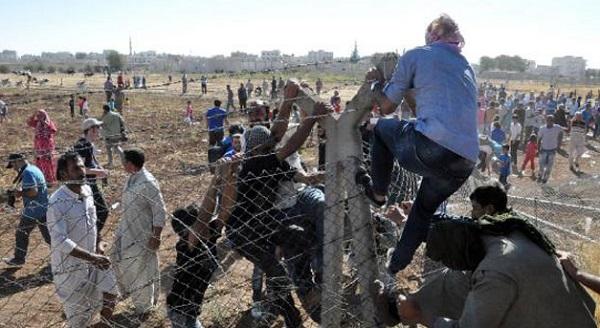 Telleri yıkıp Kobani'ye geçtiler