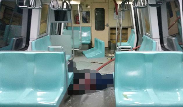 Metroda 'demir kazık' kazası