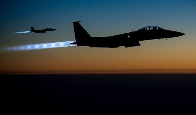 IŞİD'in Kobani'deki hedeflerine hava saldırısı